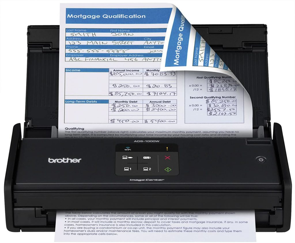 Brother ADS1000W Compact Color Desktop Scanner