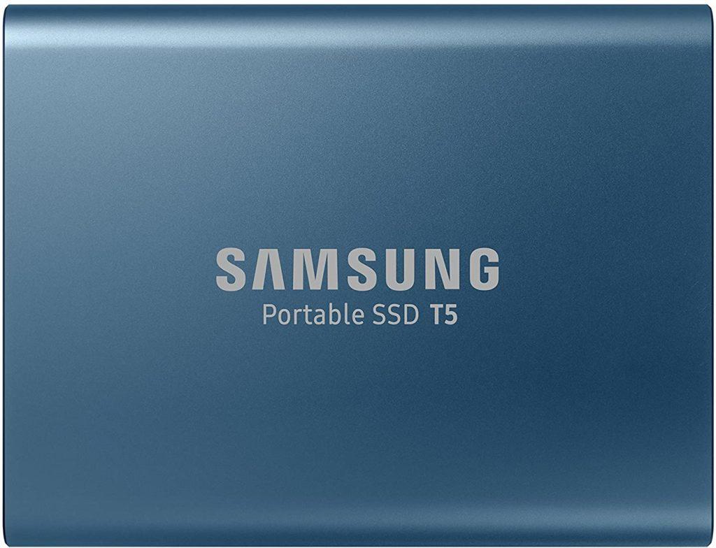 Samsung T5 Pocket Size Portable SSD 500GB USB 3.1 External SSD Black