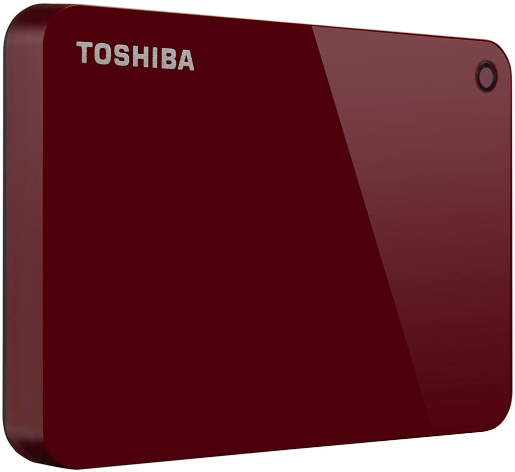Toshiba (HDTC910XR3AA) Canvio Advance 1TB Portable External Hard Drive USB 3.0, Red