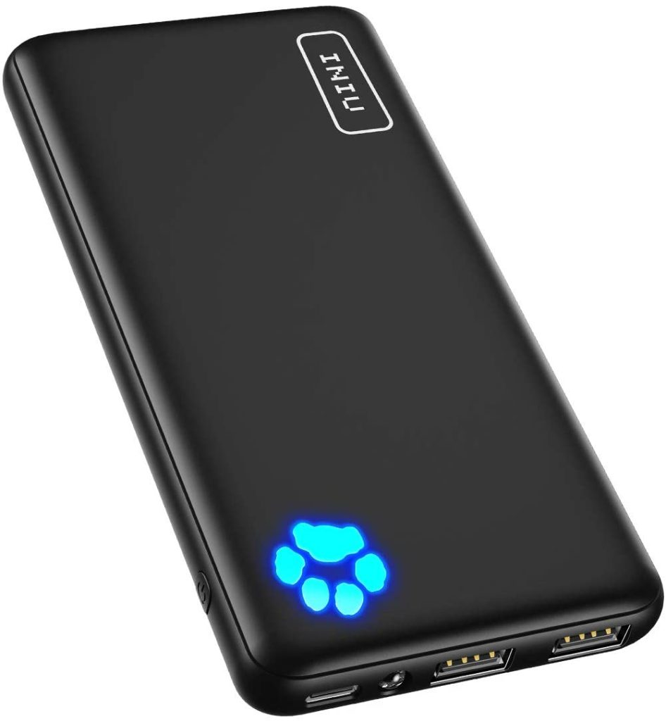 INIU Portable Charger, USB C Slimmest & Lightest Triple 3A High-Speed 10000mAh Power Bank, Flashlight Battery Pack Compatible